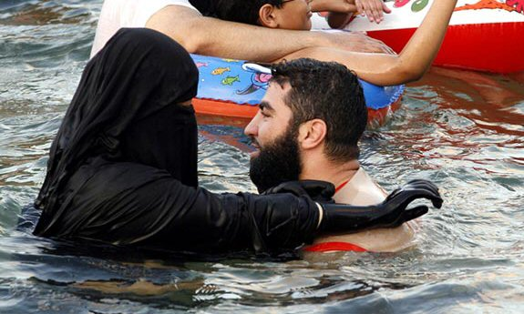 Have hit Muslim women at the beach in burkas are not