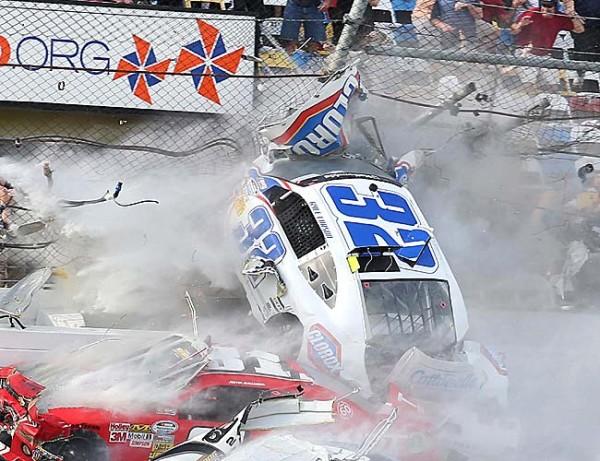NASCAR race ends in horrific wreak injuring spectators
