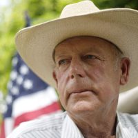 Rancher Cliven Bundy poses at his home in Bunkerville, Nevada