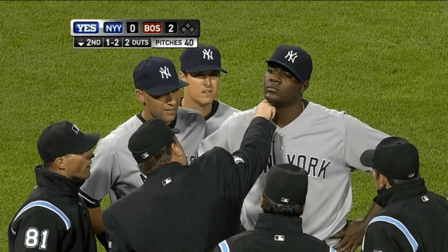 Yankees pitcher Michael Pineda ejected for having pine tar on his neck