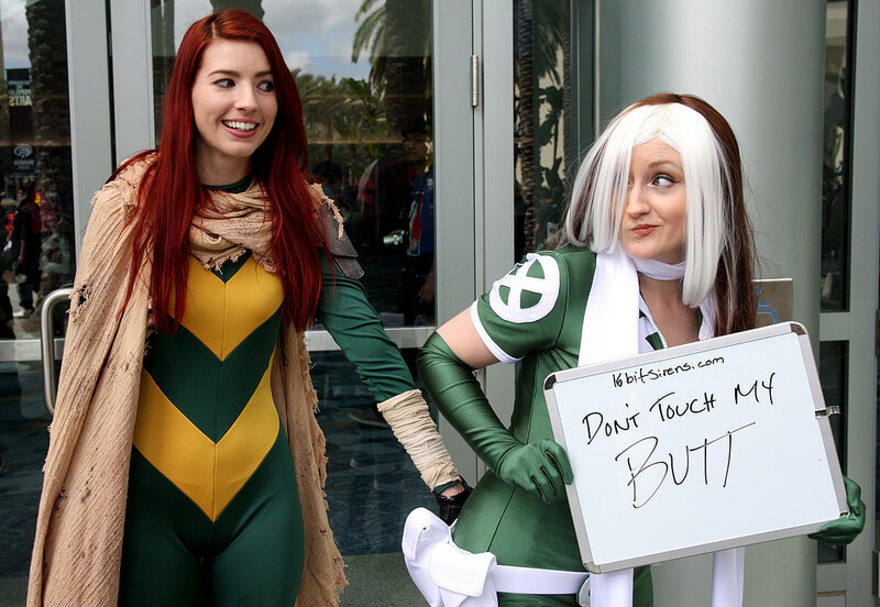 What is harassment at a comic book convention?