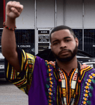 Racist terrorist Micah X Johnson.