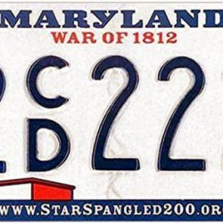 The Maryland license plate is terrible