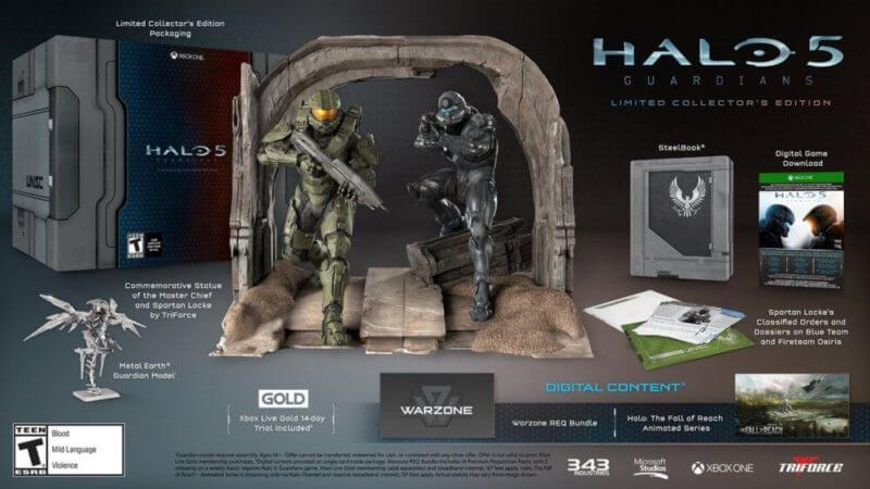 The 'Halo 5: Guardians' Limited Collector's Edition - Bent Corner
