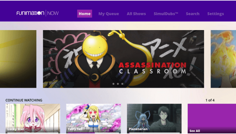 Funimation Roku app will not allow streaming of TV-MA programming