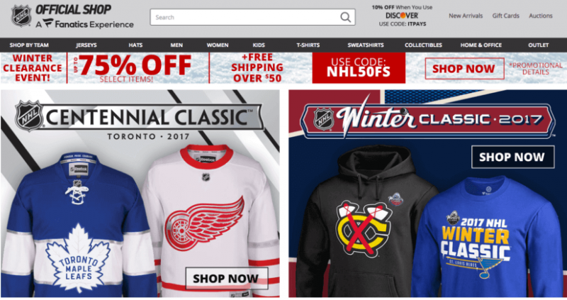Have a Shop NHL.com account? Watch for credit card fraud - Bent Corner