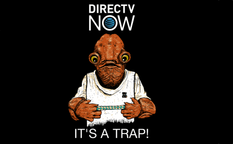 Stay away from DirecTv Now, it's a trap! - Bent Corner