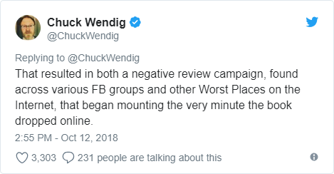 Marvel Comics fired Chuck Wendig over his Twitter posts - Bent Corner