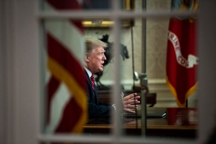 Donald Trump's first Oval Office address
