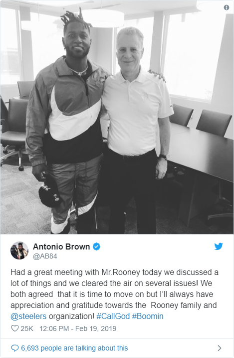 I feel sorry for Antonio Brown - Bent Corner