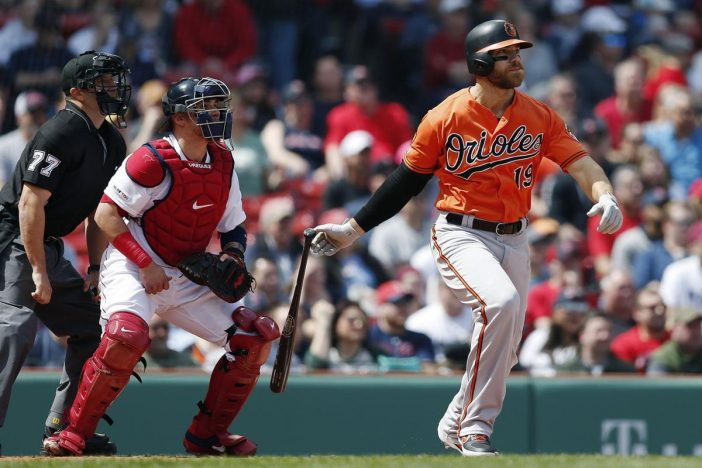 The national nightmare is now over, Chris Davis gets a hit