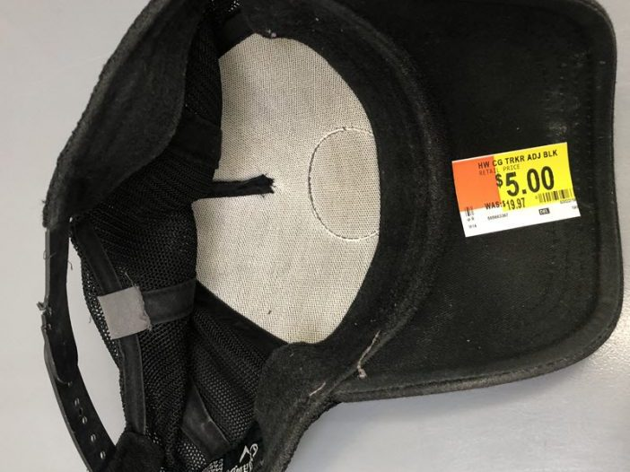 Walmart is trying to sell someone's grungy and disgusting used hat - Bent Corner