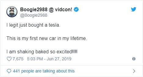 Remember when Boogie2988 was going to 'legit' buy a $100k Tesla? - Bent Corner