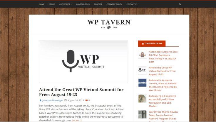 WP Tavern and Jeff Chandler part ways - Bent Corner