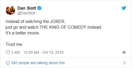 Marvel writer Dan Slott tells people not to watch DC movie 'Joker'