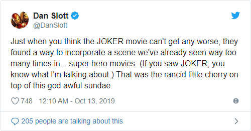 Marvel writer Dan Slott tells people not to watch DC movie 'Joker'