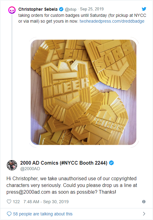 Does comic publisher 2000 AD not believe in free speech? - Bent Corner