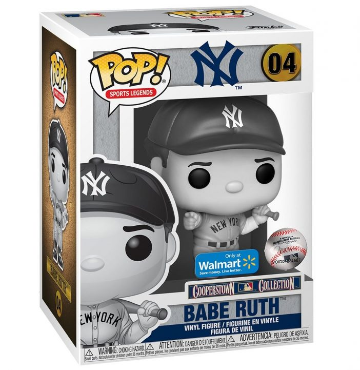 Funko Pop! Babe Ruth black and white Walmart exclusive