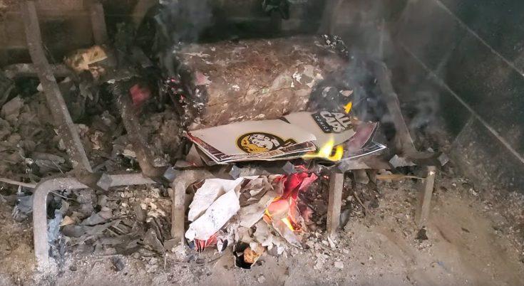 Mike S. Miller burns copy of Ethan Van Sciver's 'Cyberfrog' - Bent Corner