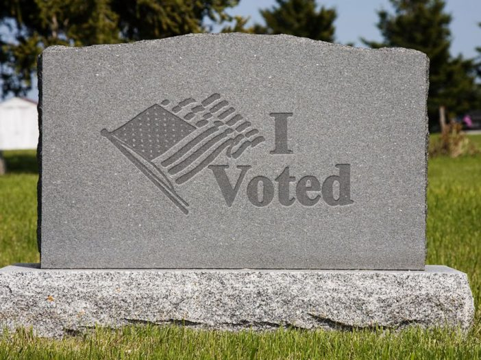 If you vote in person during a pandemic, you are stupid - Bent Corner