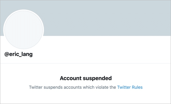 Eric Lang, famous game designer suspended from Twitter