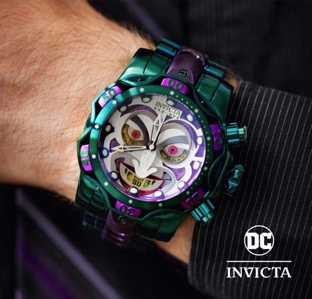 The Invicta DC Comics 'Joker' dive watch
