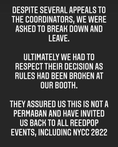 Invasion Toys kicked out of NYCC due to mask violations - Bent Corner